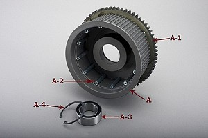 "72-3E 72T 3"" BASKET , BEARING & RING GEAR FOR EVO-9S, 11S, 12S"