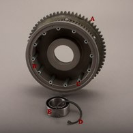 69-EV2 69T REAR PULLEY W/ SG-3 RING GEAR, EVRD-100 CLUTCH DOGS AND EHB-100 HUB BEARING